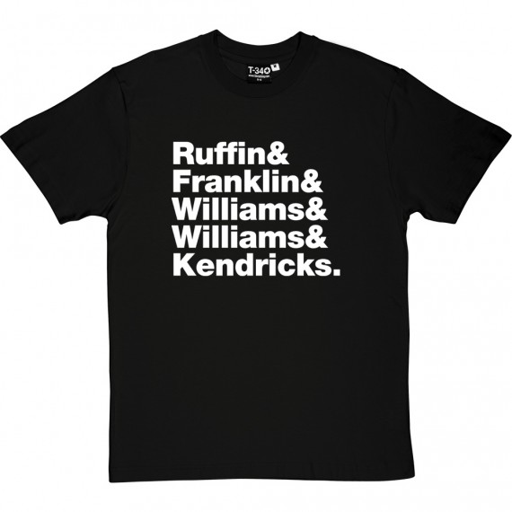 The Temptations Line-Up T-Shirt