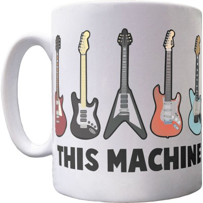 This Machine Kills Fascists (Guitars) Ceramic Mug