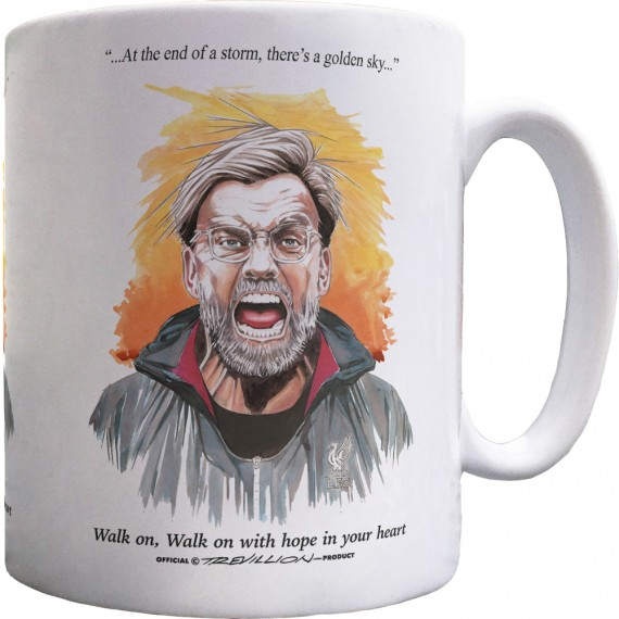 "Jurgen Klopp ""Walk On"" Ceramic Mug"