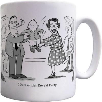 1950s Gender Reveal Party Ceramic Mug