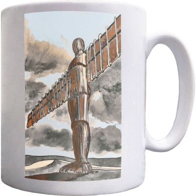 The Angel Of The North Tall And Proud by Hadrian Richards Ceramic Mug