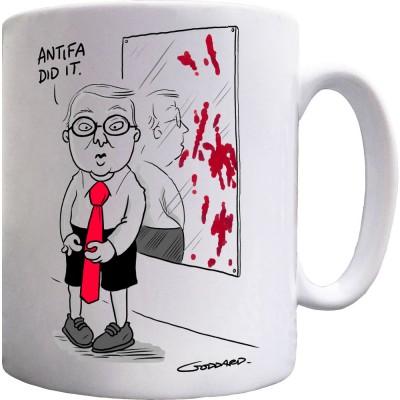 Antifa Did It Ceramic Mug