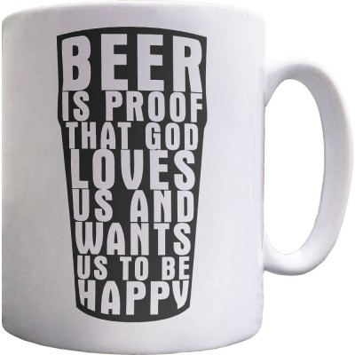 "Benjamin Franklin ""Beer"" Quote Ceramic Mug"