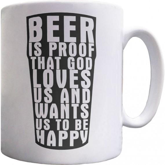 "Benjamin Franklin ""Beer"" Quote Ceramic Mug"