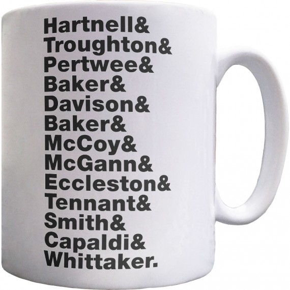 Doctor Who (Doctors) Line-Up Ceramic Mug