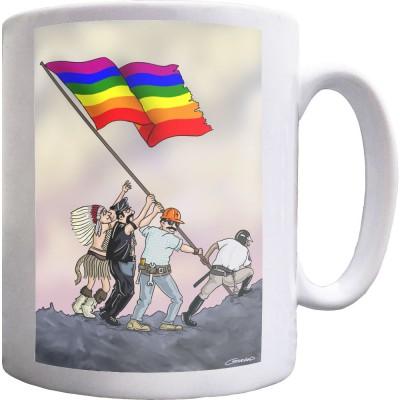 Iwo Jima Pride Flag Ceramic Mug