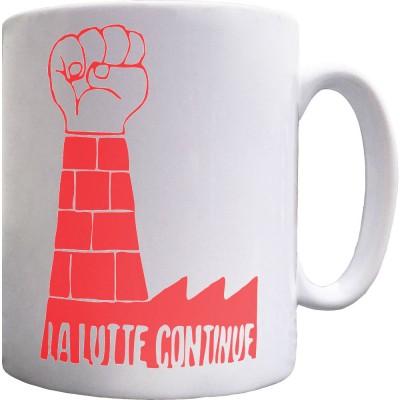 La Lutte Continue Ceramic Mug