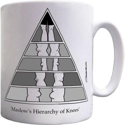 Maslow's Hierarchy of Knees Ceramic Mug