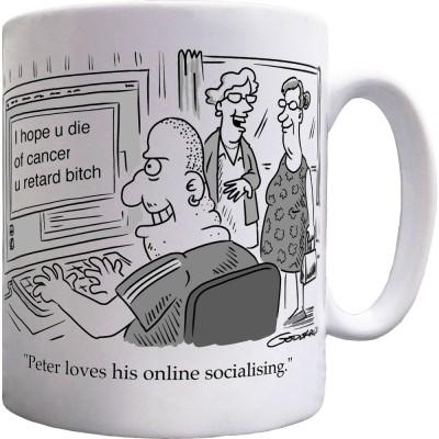 Peter Loves His Online Socialising Ceramic Mug