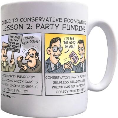 Guide To Conservative Economics: Party Funding Ceramic Mug