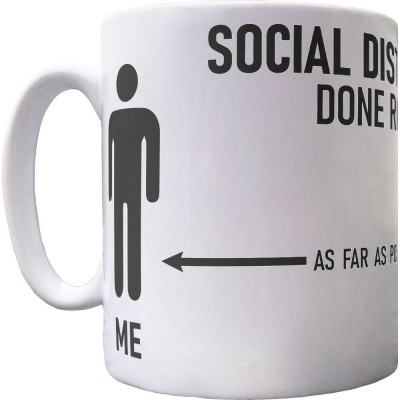 Social Distancing Done Right (Tories) Ceramic Mug