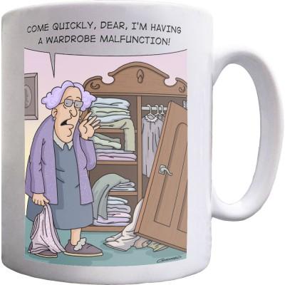 Wardrobe Malfunction Ceramic Mug