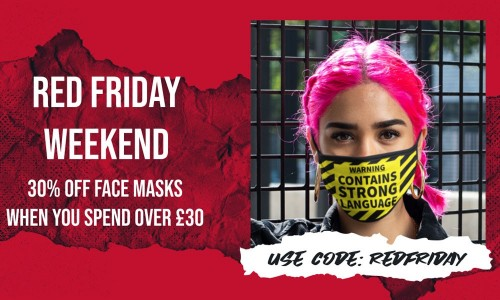 Red Friday! 30% OFF Face Masks!