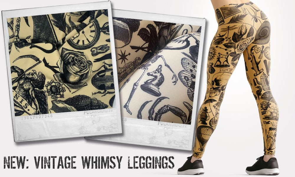 Space, Victoriana, and Rock 'n' Roll... New Leggings and Bags