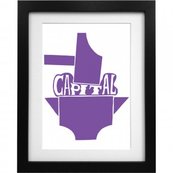 Capital Hammer and Anvil Art Print