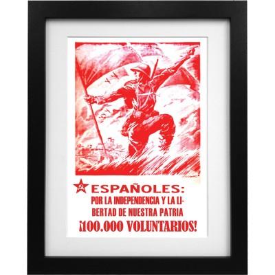 Espanoles Por La Independencia Y La Libertad De Nuestre Patria Art Print