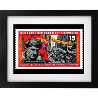 International Brigades Stamp Art Print
