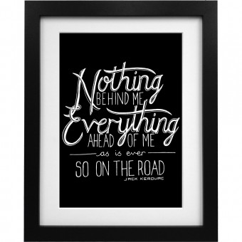 "Jack Kerouac ""On The Road"" Quote Art Print"