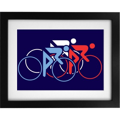 Tour De France Tricolor Art Print