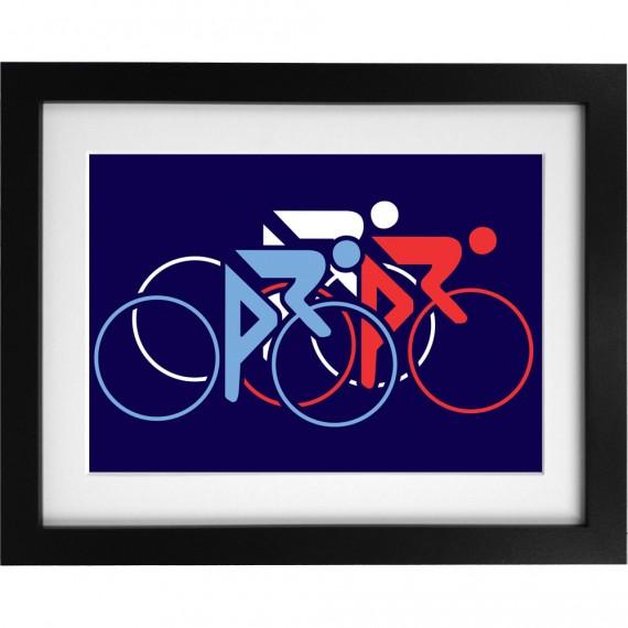 Tour De France Tricolor Art Print