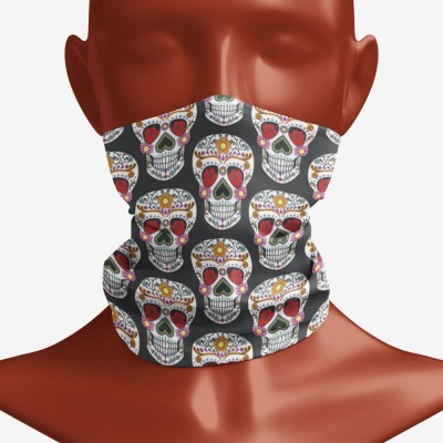 Sugar Skull Snood