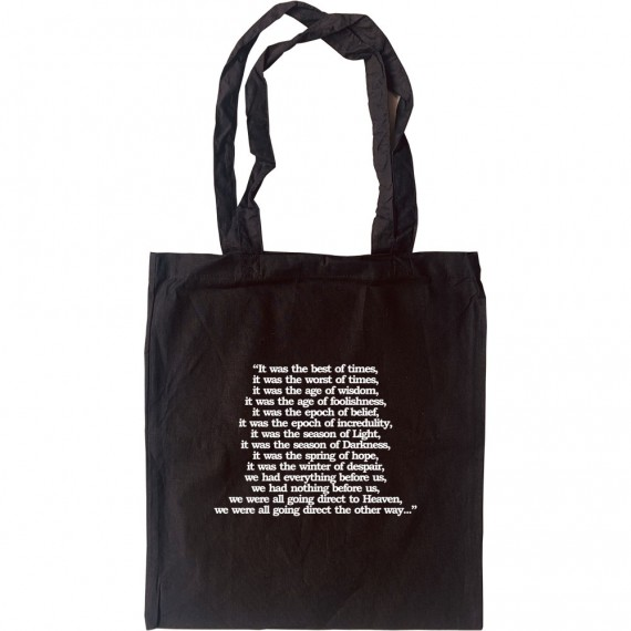 A Tale Of Two Cities Opening Lines Tote Bag