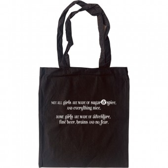 Adventure, Fine Beer, Brains and No Fear Tote Bag