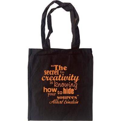 """Albert Einstein """"Creativity"""" Quote Tote Bag"""