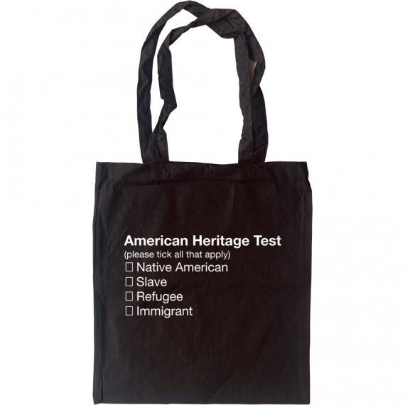 American Heritage Test Tote Bag