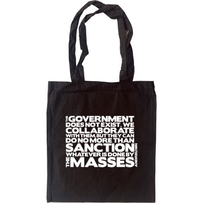 """Andreu Nin """"Government"""" Quote Tote Bag"""