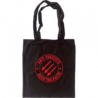 Anti Fascists Keep The Faith Tote Bag