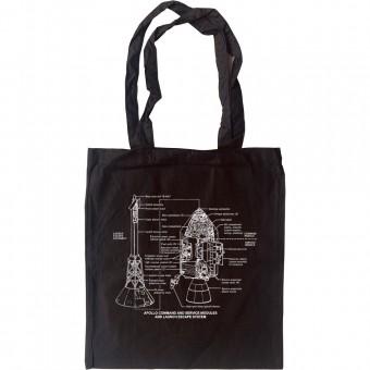 Apollo Command and Service Module Diagrams Tote Bag