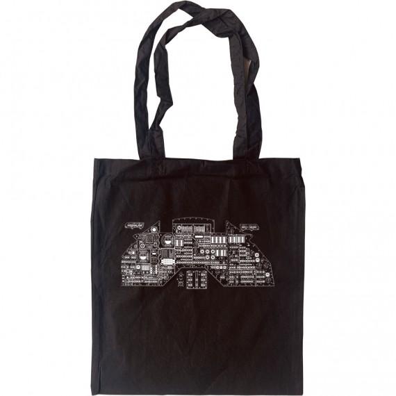 Apollo Control Panel Diagram Tote Bag