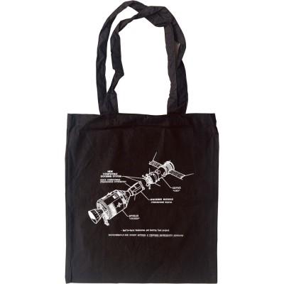 Apollo-Soyuz Docking Diagram Tote Bag