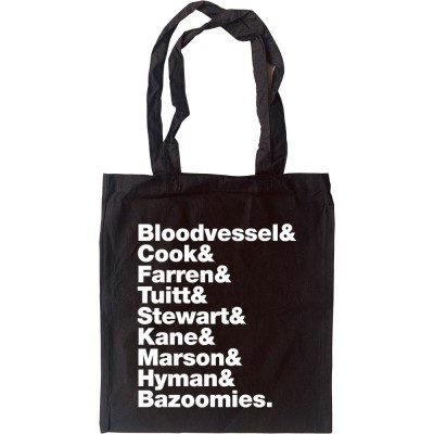 Bad Manners Line-Up Tote Bag
