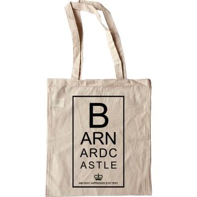 Barnard Castle Eye Test Tote Bag