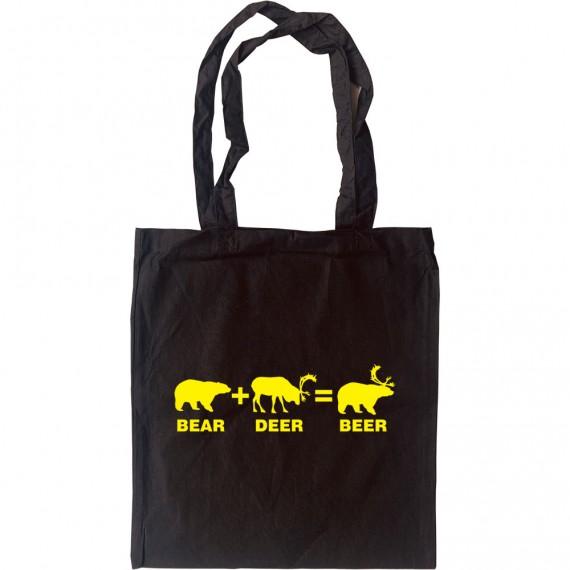 Bear + Deer = Beer Tote Bag