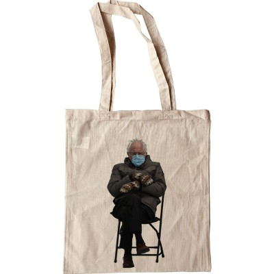 "Bernie Sanders ""Mittens and Mask"" Tote Bag"