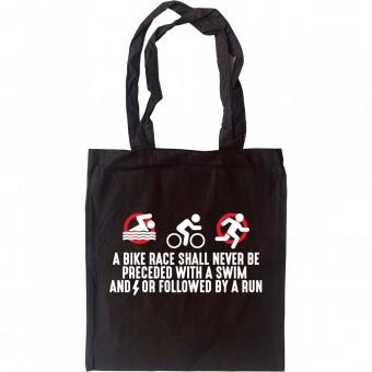 A Bike Race Tote Bag