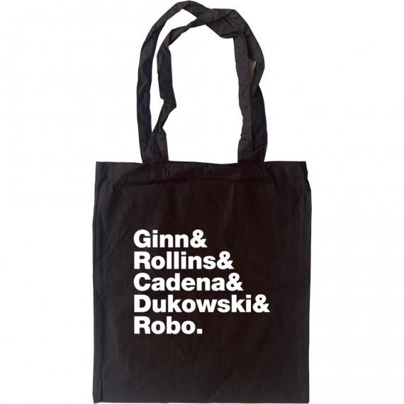 Black Flag Line-Up Tote Bag