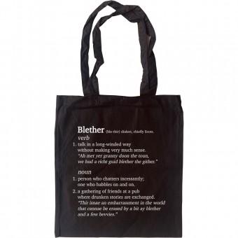 Blether Definition Tote Bag