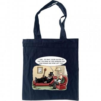 Bluesman In Therapy Tote Bag