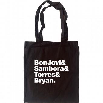 Bon Jovi Line-Up Tote Bag