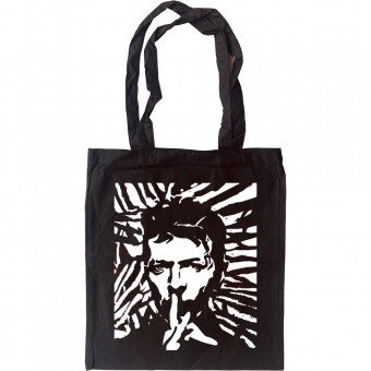 David Bowie Woodcut Tote Bag