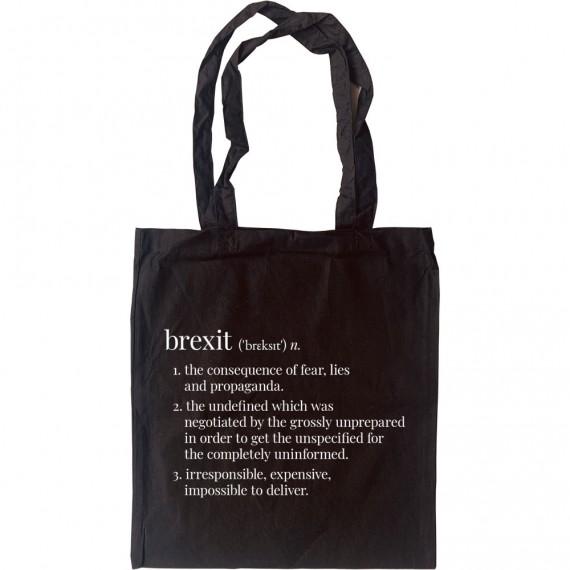 Brexit Definition Tote Bag