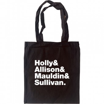 Buddy Holly and The Crickets Line-Up Tote Bag