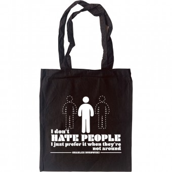 """Charles Bukowski """"People"""" Quote Tote Bag"""