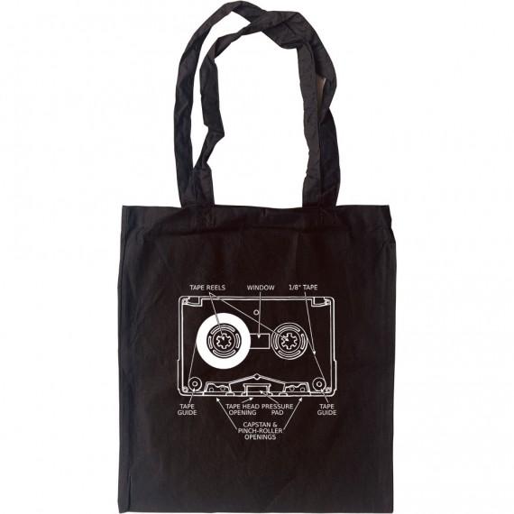 Cassette Tape Diagram Tote Bag