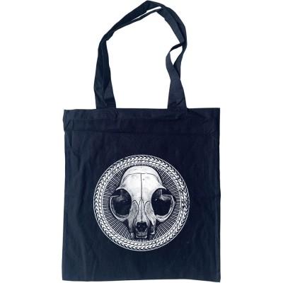 Cat Skull Tote Bag