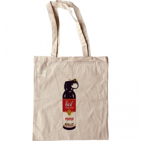 Civil Disobedience Pepper Spray Tote Bag